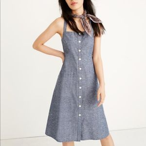 Madewell chambray midi dress